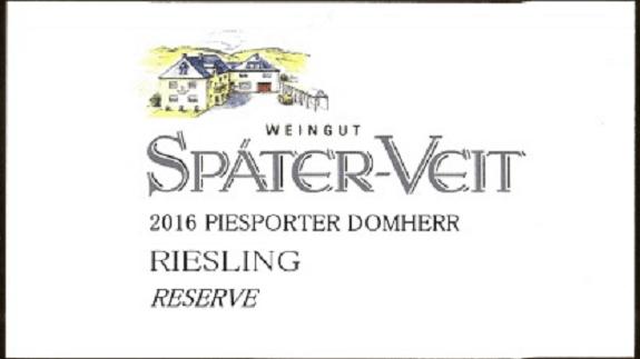 Spater Veit Piesporter Domherr Reserve
