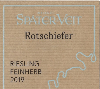 Spater Veit Rotschiefer Riesling Feinherb front